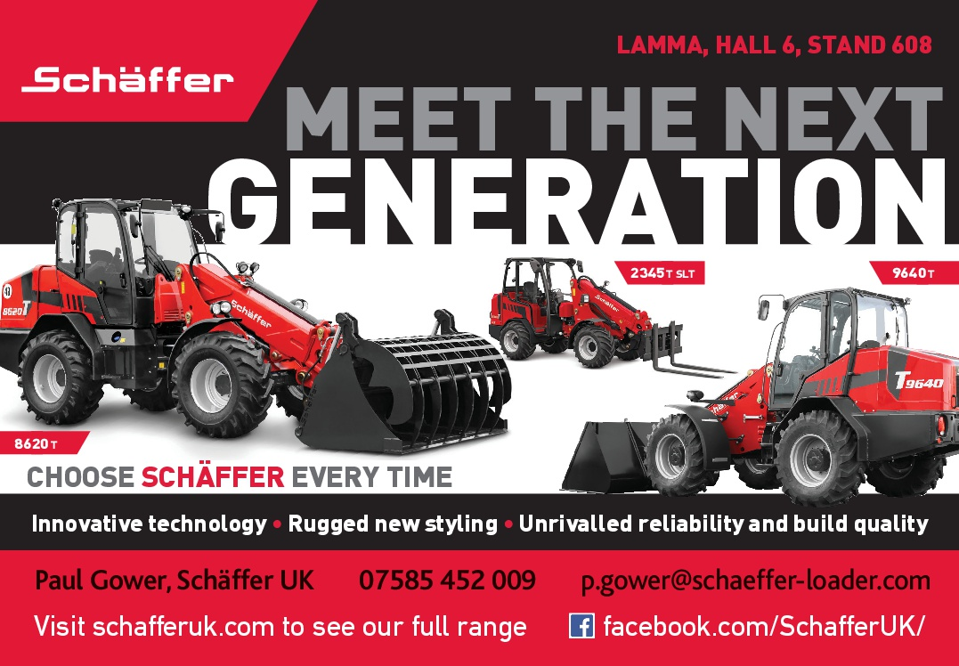 Schäffer showcases the next generation of loaders at LAMMA: 17 - 18 January 2018